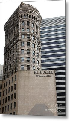 San Francisco - Hobart Building On Market Street - 5d17870 Metal Print by Wingsdomain Art and Photography