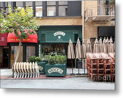 San Francisco - Maiden Lane - Mocca Cafe - 5d17788 Metal Print by Wingsdomain Art and Photography
