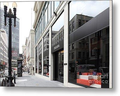 San Francisco - Maiden Lane - Prada Italian Fashion Store - 5d17800 Metal Print by Wingsdomain Art and Photography
