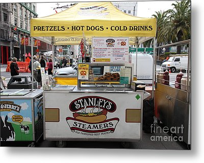 San Francisco - Stanley's Steamers Hot Dog Stand - 5d17929 Metal Print by Wingsdomain Art and Photography