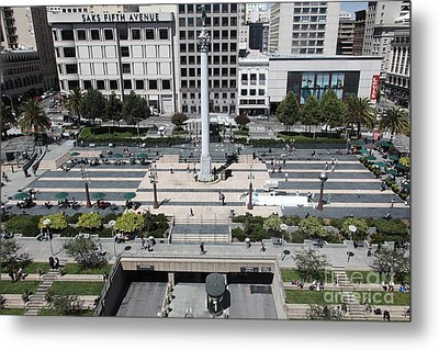 San Francisco - Union Square - 5d17942 Metal Print by Wingsdomain Art and Photography