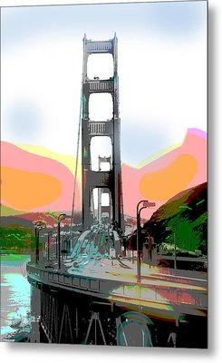 San Francisco Bay Bridge Metal Print by Charles Shoup