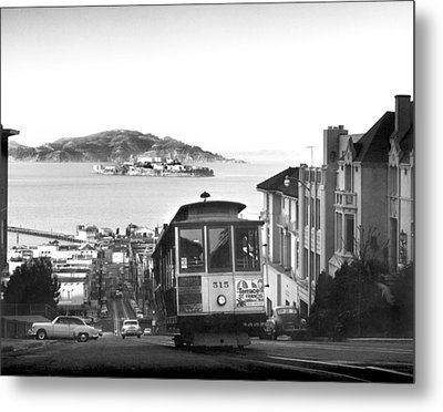 San Francisco Cable Car Metal Print by Underwood Archives