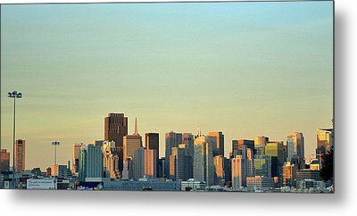 Metal Print featuring the photograph San Francisco Cityline by Rima Biswas