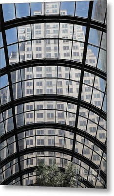San Francisco Galleria - 5d17073 Metal Print by Wingsdomain Art and Photography