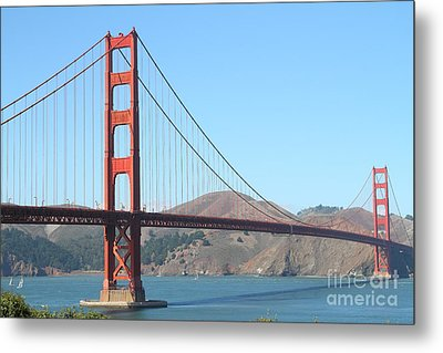 San Francisco Golden Gate Bridge . 7d7802 Metal Print by Wingsdomain Art and Photography