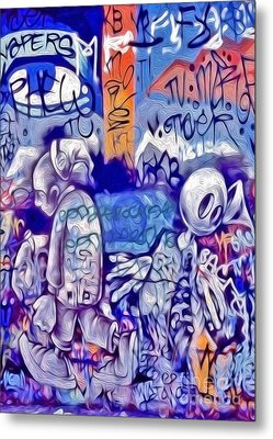Metal Print featuring the photograph San Francisco Graffiti Park - 1 by Gregory Dyer