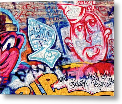 Metal Print featuring the photograph San Francisco Graffiti Park - 2 by Gregory Dyer