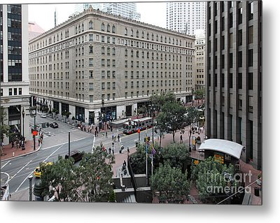 San Francisco Market Street - 5d17873 Metal Print by Wingsdomain Art and Photography