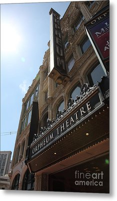 San Francisco Orpheum Theatre - 5d17985 Metal Print by Wingsdomain Art and Photography