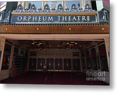 San Francisco Orpheum Theatre - 5d17988 Metal Print by Wingsdomain Art and Photography