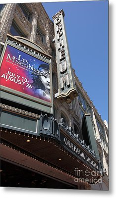San Francisco Orpheum Theatre - 5d17990 Metal Print by Wingsdomain Art and Photography