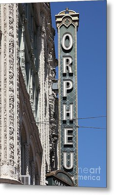 San Francisco Orpheum Theatre - 5d17996 Metal Print by Wingsdomain Art and Photography