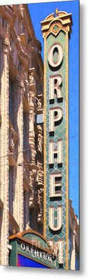 San Francisco Orpheum Theatre - 5d17997 - Painterly Metal Print by Wingsdomain Art and Photography