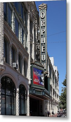 San Francisco Orpheum Theatre - 5d17997 Metal Print by Wingsdomain Art and Photography