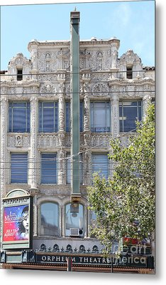 San Francisco Orpheum Theatre - 5d18003 Metal Print by Wingsdomain Art and Photography