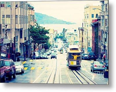 San Francisco Powell Street Cable Car Metal Print by Kim Fearheiley