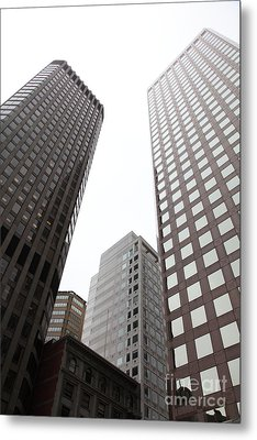 San Francisco Tall Buildings In The Financial District - 5d17897 Metal Print by Wingsdomain Art and Photography
