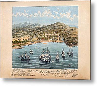 San Fransisco 1846 Metal Print by Donna Leach