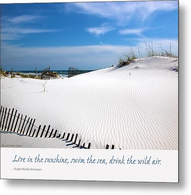 Sand Dunes Dream 3 Metal Print by Marie Hicks