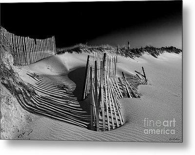 Sand Fence Metal Print by Jim Dohms