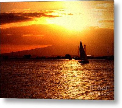 Sand Island Sunset 1 Metal Print