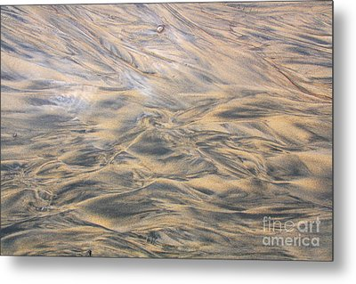 Metal Print featuring the photograph Sand Patterns by Nareeta Martin