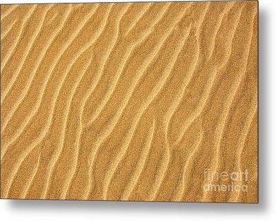 Sand Ripples Abstract Metal Print