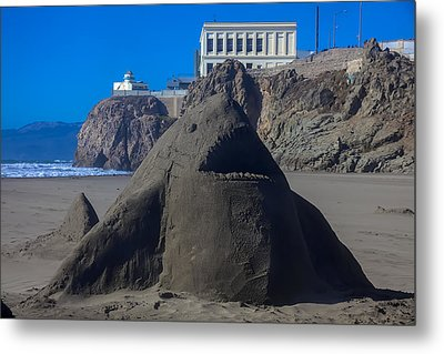 Sand Shark At Cliff House Metal Print by Garry Gay