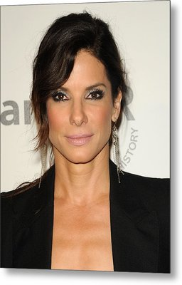 Sandra Bullock Wearing Irit Design Metal Print by Everett