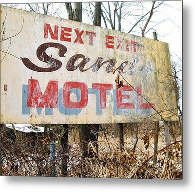 Sands Motel Metal Print by Todd Sherlock
