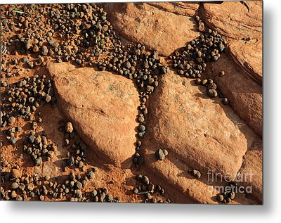 Sandstone And Pebbles Metal Print by Gary Whitton