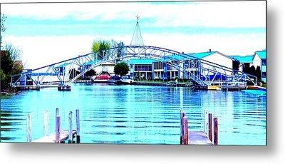 Sandy Beach Bridge Metal Print by Lisa Brandel
