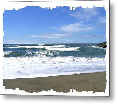 Sandy Shores Of Oregon Metal Print