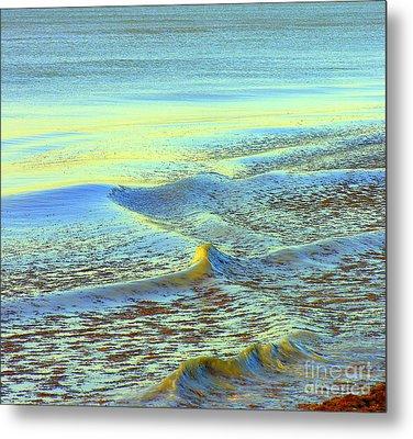 Sanibel Sea Metal Print by Anne Gordon