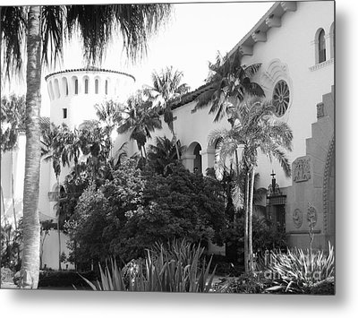 Metal Print featuring the photograph Santa Barbara Courthouse by Ann Johndro-Collins