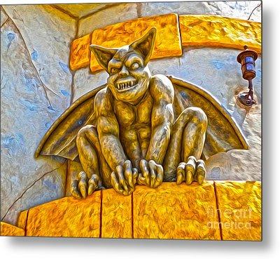 Santa Cruz Boardwalk - Demon - 01 Metal Print by Gregory Dyer