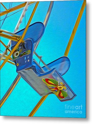 Santa Cruz Boardwalk - Ferris Wheel - 03 Metal Print by Gregory Dyer