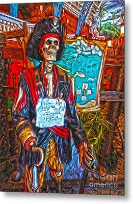 Santa Cruz Boardwalk - Pirate Of The Arcade Metal Print by Gregory Dyer