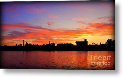 Santa Cruz Sunset 2 Metal Print