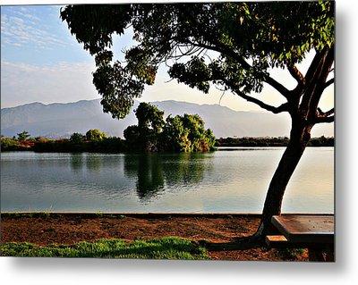 Dawn On The Lake Metal Print by Gilbert Artiaga