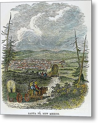 Santa Fe, Nm: Wagon Train Metal Print