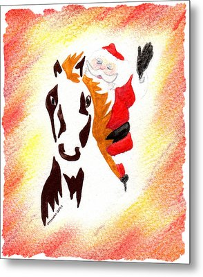 Santa Is Coming To Town Metal Print by Mark Schutter