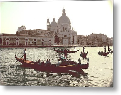 Metal Print featuring the photograph Santa Maria Della Salute Grand Canal Venice by Tom Wurl