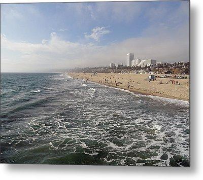 Santa Monica Beach Metal Print by Robert Meyers-Lussier
