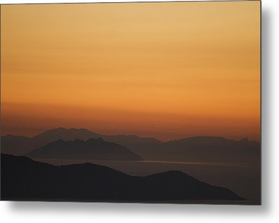 Santo Stefano Coastline At Sunset Metal Print by Axiom Photographic