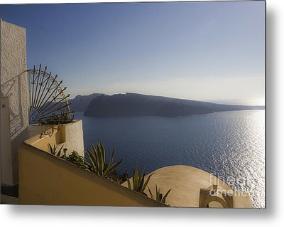 Metal Print featuring the photograph Santorini View by Leslie Leda