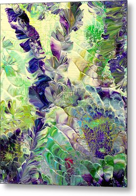 Sapphire Violet Metal Print