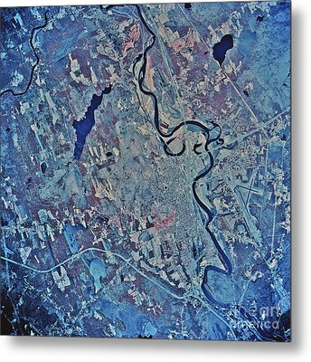 Satellite View Of Concord, New Metal Print by Stocktrek Images