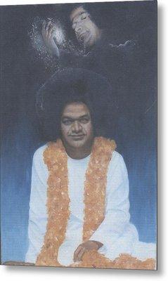 Sathya Sai Baba Divine II Metal Print